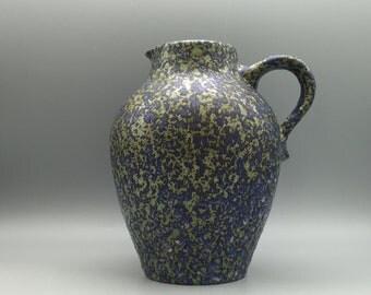 Bay Keramik 242 - 20 rare Vintage Mid Century  unique vulcanic  green/blue/yellow glaze 1960s /1970s  Vase  West Germany Pottery.WGP.