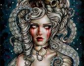 Kraken - Enys Guerrero Fantasy goth Fine Art 6x8 Print