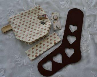 Kit découverte tricot  Bloqueur à chaussette - sac à projet-pochette pour aiguilles doubles pointes-broches-marqueur de progrès