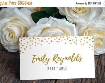 Printable Place Card Template - DIY Placecard Place Card - DIY Wedding Template - Rustic Boho - Instant Download - Confetti Collection
