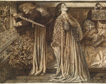 Dante Gabriel Rossetti: Sir Launcelot in the Queen's Chamber. Fine Art Print/Poster (004564)