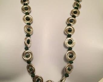 Pewter circles and green jade