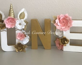 Unicorn Floral Letters ©/ Unicorn Letters/ Boho Unicorn/ Unicorn First Birthday/ Unicorn Photo Prop/ Unicorn Decoration/ Unicorn Baby Shower