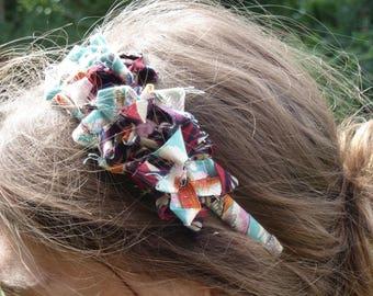 Fabric Ribbon flower headband