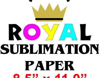 "50-pcs 8.5"" x 11.0""  Royal Sublimation Paper for Epson Inkjet Printers Using Sublimation Inks Heat Press Transfer Shipping Included"