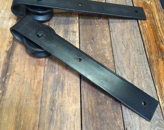 Barn Door Hardware - Barn Door Hangers - Metal Door Hangers - Barn Door Hardware Wheels - (Hangers Only)