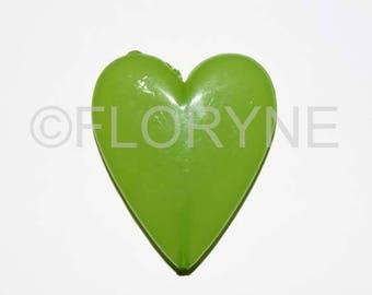 Italian green glass hearts