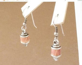 50% OFF CLEARANCE Sterling Silver And Leather Earrings