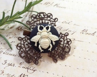 Bee And Bronze Hair Clip