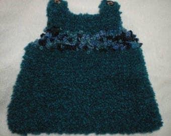Robe006 - Dress / tunic blue / green / turquoise