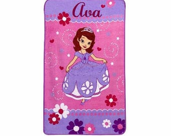Sofia the First Toddler Plush Fleece Blanket - Personalized
