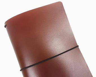 Brown Leather Travelers Cover - Vegetable Tanned - CityGirl Collection - Cider - Travelers Notebook - Full Grain - Journal - Hand-Dyed