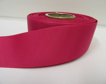 Grosgrain Ribbon 3mm 6mm 10mm 16mm 22mm 38mm Rolls, Fuchsia Dark Pink, 2, 10, 20 or 50 metres, Ribbed Double sided,