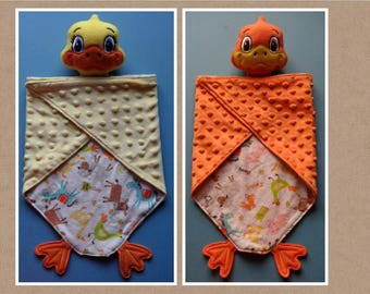 Duck Lovey, security blanket. Ready to ship.