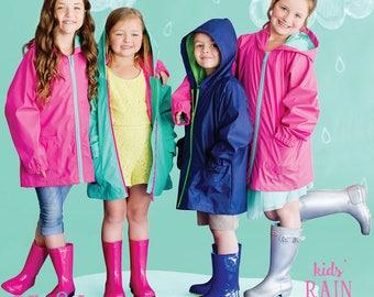 Kids Monogrammed Rain Coat - Monogram Gift for Child