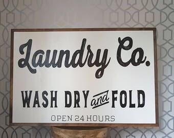 "Laundry Co.  24x36"""