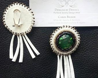 native american, dentalium shell earrings coastal style, indian, indigenous, tribal