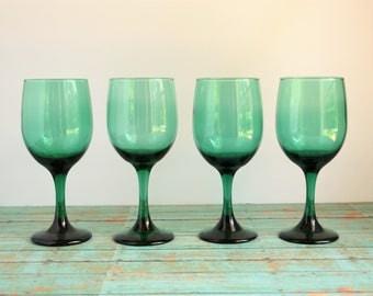 4 Vintage Libbey Premier Stemware / Wine Glasses / Water Goblets