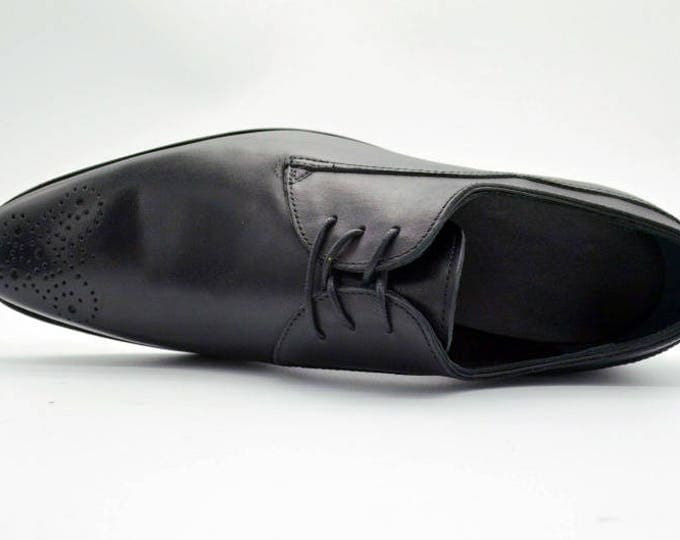 Handmade Goodyear Welted Brogue Men's Shoes,Carving Pattern,
