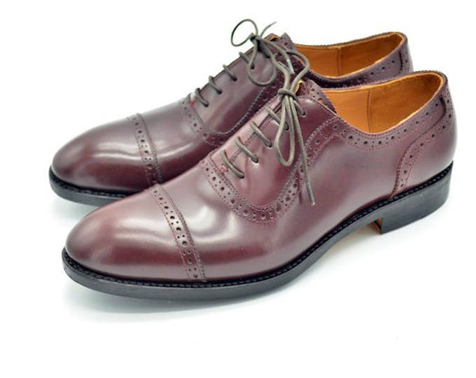 Handmade Goodyear welted Men's Oxford Shoes