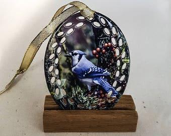 Oval Doily ceramic ornament 82003