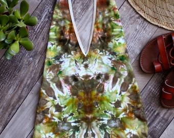 LARGE   Forest Nymph Bodysuit   Hand Dyed Halter Onesie