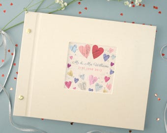 Personalised Wedding Photo Album (4 designs to choose)