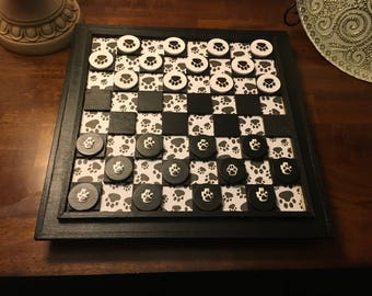 Doggy Paw Checker Board