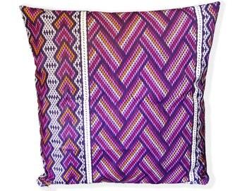 Cushion cover 40 X 40 cm purple ethnic spirit