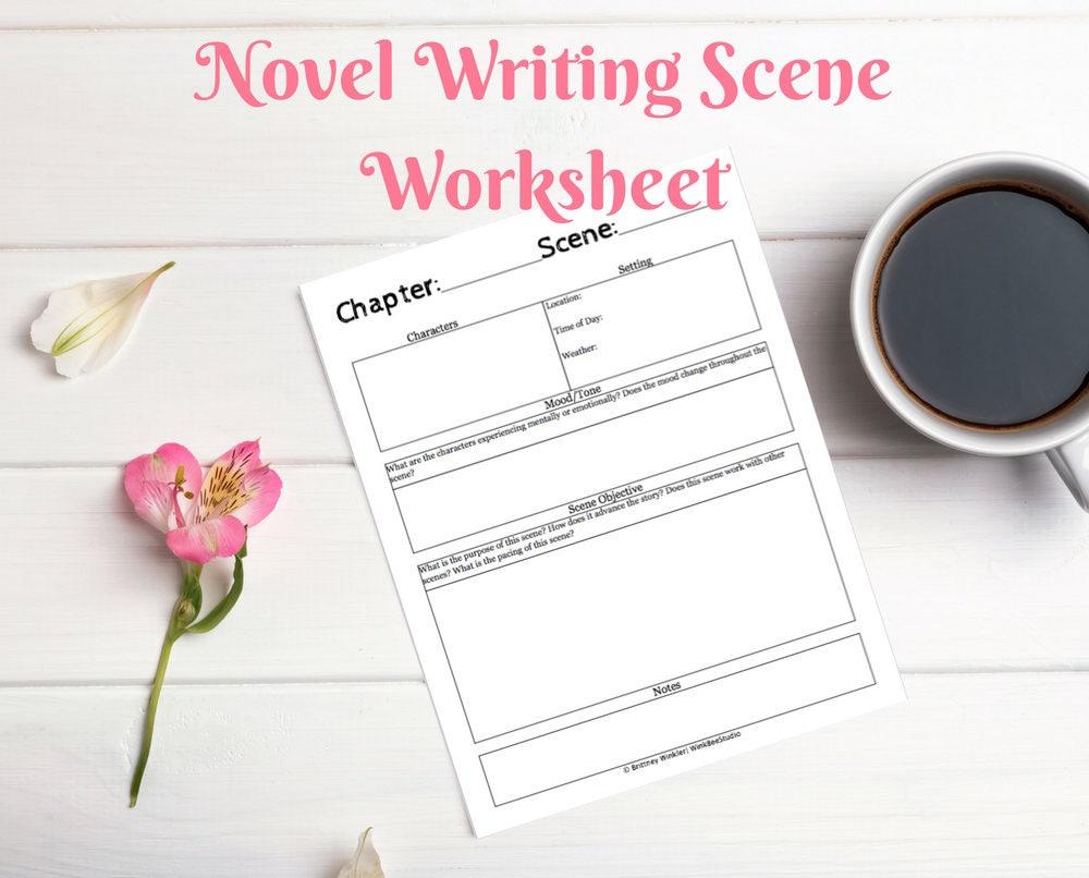 Novel Writing Worksheets Nanowrimo Novel Planner Printable