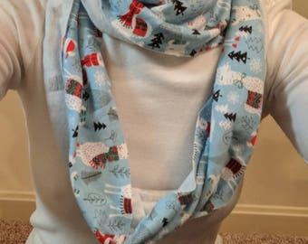Llama infinity knit scarf small