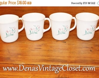 20% Off Sale Vintage Corelle Coffee Mugs RoseMarie Cups Lot of 4