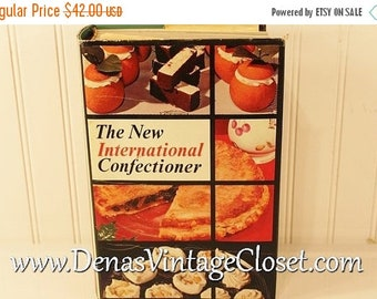 30% Off Spring Sale Vintage 1970 The New International Confectioner Cook Book
