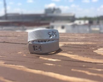 Love Unstirred | Hand Stamped Ring | Song of Solomon 8:4