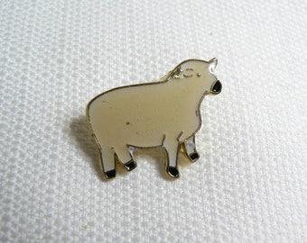 Deadstock - Never Worn - Vintage 80s - Cute Kawaii Sheep - Enamel Pin / Button / Pinback