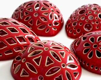 Ceramic Red Heart Refrigerator Magnets, Handmade Fridge Magnet, Large Clay Heart, Kitchen Magnet, Gift Heart for Wedding, Red Kitchen decor