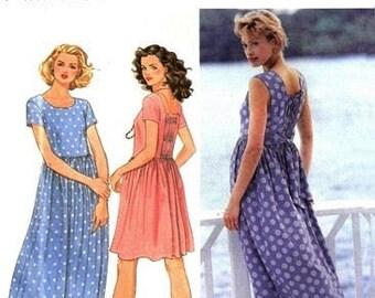 Simplicity 9633 Breezy Summertime Dress / 1995 SZ12-16 UNCUT