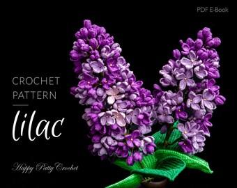 Crochet Lilac Pattern - Crochet Flower Pattern - Crochet Pattern for Decor and Arrangements