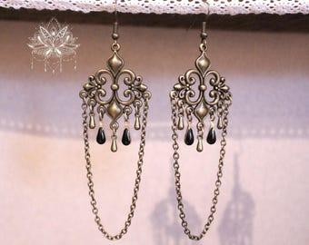 """Gypsy Bohemian earrings in bronze """"Anoya"""""""