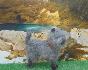 Needle Felted GREY CAIRN TERRIER