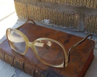 Vintage Funky Grandma Glasses Almost Oval Funky Mid Century MCM RX
