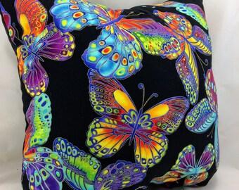 Throw Pillow Accent Pillow Toss Pillow Butterfly Butterflies Metallic Home Decor Group One Home Bedding