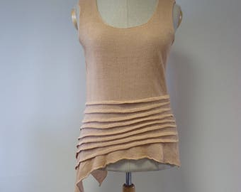 Special price. Summer asymmetrical line top, L size.