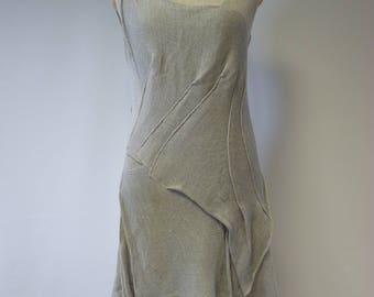 Amazing Summer linen dress, XL size. Fashion and feminine look.