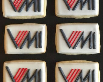 12 your BUSINESS COMPANY LOGO on a delicious vanilla sugar cookie - gift - boss day - employee recognition - apreciation day- milestone -cor