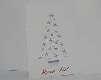 Christmas card tree openwork star