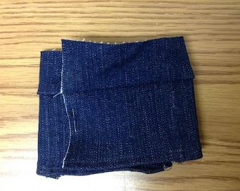 Blue jean kilt for Doll or Teddy
