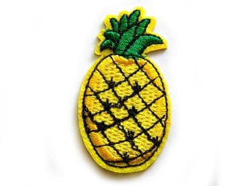 Pineapple Embroidered Patch Appliqué Choice of Colours