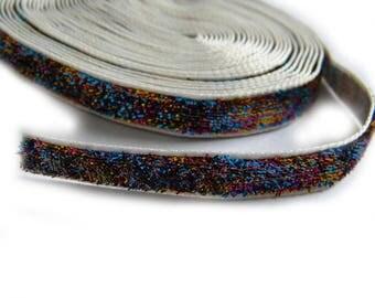 """5 Yards 3/8"""" Glitter Velvet Ribbon"""
