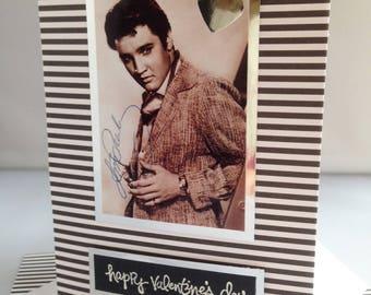 ELVIS PRESLEY American singer, actor, Vintage themed Happy Valentine's card  Best friend Love Romance Kisses A6/C6 size